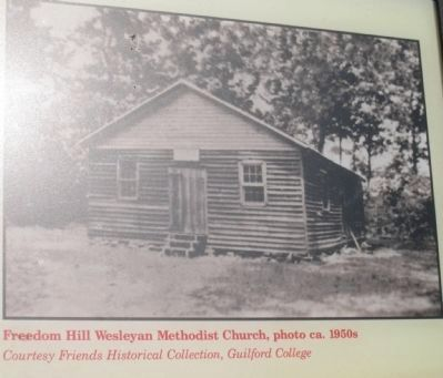 Freedom Hill Wesleyan Methodist Church, photo ca. 1950s image. Click for full size.