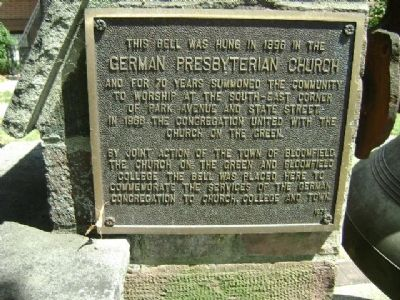 German Presbyterian Church Marker image. Click for full size.