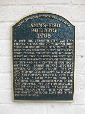 Landis-Fish Building Marker image. Click for full size.