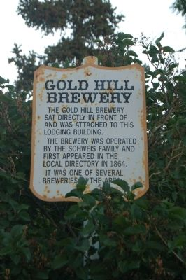 Gold Hill Brewery Marker image. Click for full size.