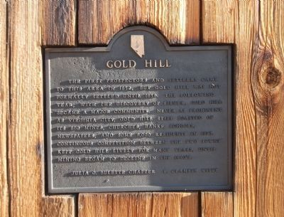 Gold Hill Marker image. Click for full size.