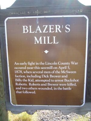 Blazer�s Mill Marker Photo, Click for full size