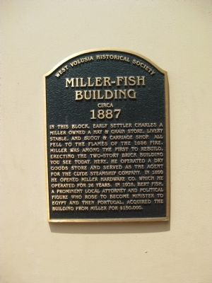 Miller-Fish Building Marker image. Click for full size.