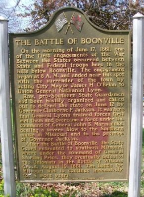 The Battle of Boonville Marker image. Click for full size.
