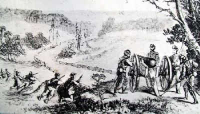 Illustration on Battle of Boonville Marker image. Click for full size.