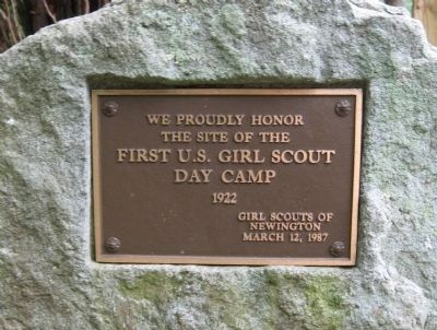 First U.S. Girl Scout Day Camp Marker image. Click for full size.