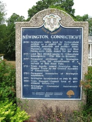 Newington, Connecticut Marker image. Click for full size.