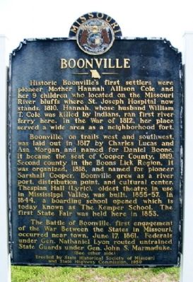 Boonville Marker (Side A) Photo, Click for full size