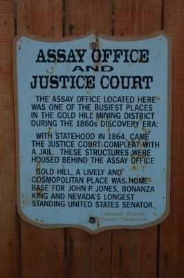 Assay Office and Justice Court Marker image. Click for full size.