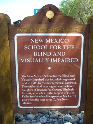 New Mexico School for the Blind and Visually Impaired Marker image. Click for full size.