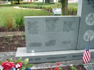 Left Panel - - Switzerland County Honor Roll Memorial Marker Photo, Click for full size
