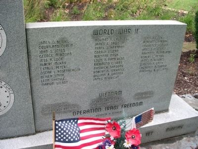 Right Panel - - Switzerland County Honor Roll Memorial Marker Photo, Click for full size