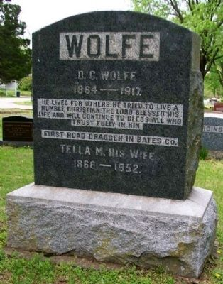 David Clayton Wolfe Marker image. Click for full size.
