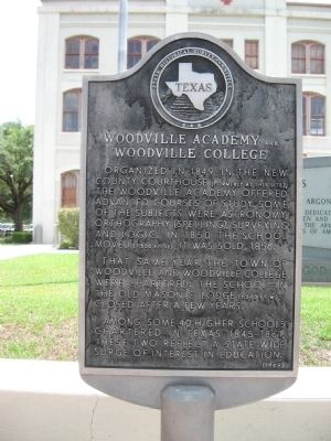 Woodville Academy and Woodville College Marker image. Click for full size.