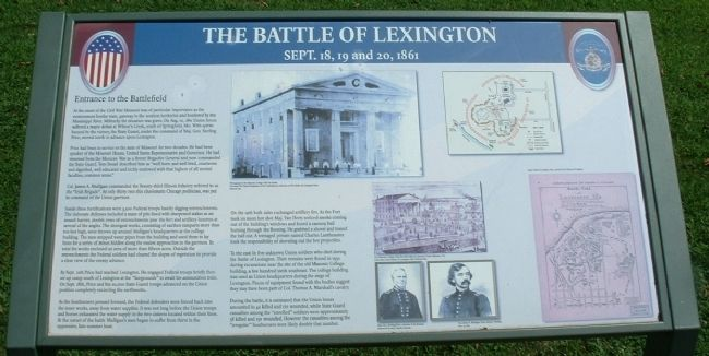 Entrance to the Battlefield - The Battle of Lexington image. Click for full size.