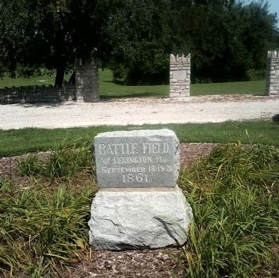 Historical Marker at Entrance to the Battlefield Photo, Click for full size