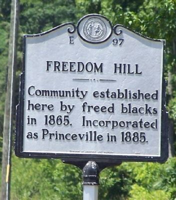 Freedom Hill Marker image. Click for full size.