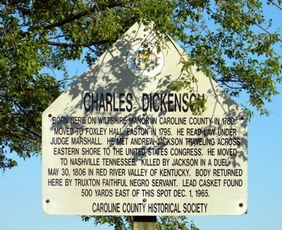 Charles Dickenson Marker image. Click for full size.