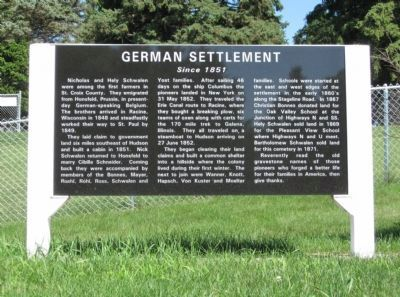 German Settlement Marker image. Click for full size.