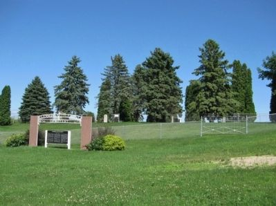 German Settlement Cemetery and Marker image. Click for full size.