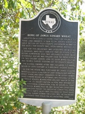 Home of James Edward Wheat Marker image. Click for full size.