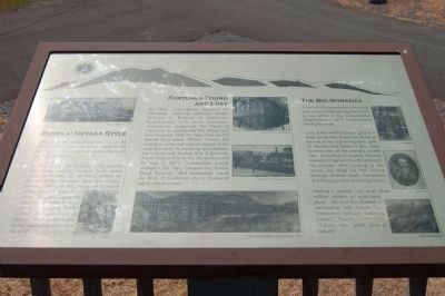 The Comstock Trail and History Kiosk Marker, Panel 2 image. Click for full size.