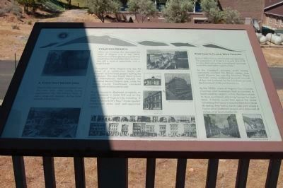 The Comstock Trail and History Kiosk Marker, Panel 4 image. Click for full size.