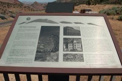The Comstock Trail and History Kiosk Marker, Panel 5 image. Click for full size.