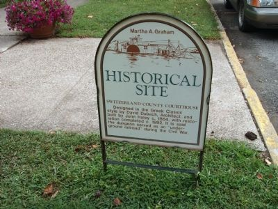 Obverse Side - - Historical Site - Switzerland County Courthouse Marker image. Click for full size.
