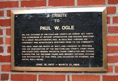 Paul W. Ogle - - Tribute Plaque image. Click for full size.