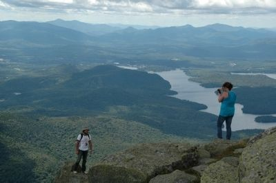 The Adirondacks - Lake Placid from Whiteface Mountain image. Click for full size.