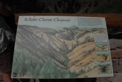 Water Carves Canyons Marker image. Click for full size.