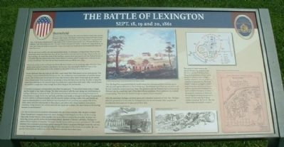 The Battle of Lexington - Battlefield Marker Photo, Click for full size