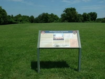 Battlefield marker (looking north) Photo, Click for full size