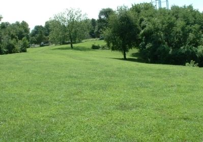 Looking southeast towards the main entrance to the battlefield. Photo, Click for full size
