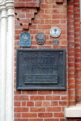 Washington Street Methodist Church Historical Plaques image. Click for full size.