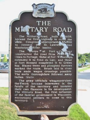 The Military Road Marker image. Click for full size.