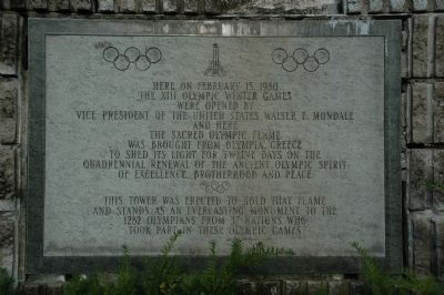 The XIII Winter Olympic Games Marker image. Click for full size.