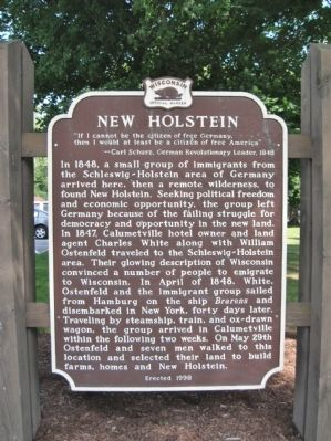New Holstein Marker Photo, Click for full size