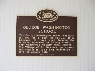 George Washington School Marker Photo, Click for full size