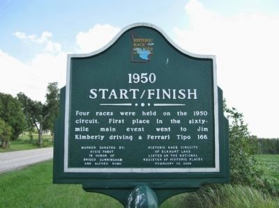 1950 Start/Finish Marker Photo, Click for full size