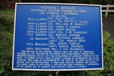 Sherman's Brigade Marker image. Click for full size.
