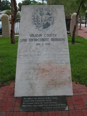 Volusia County Law Enforcement Memorial image. Click for full size.