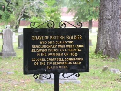 Grave of British Soldier Marker image. Click for full size.