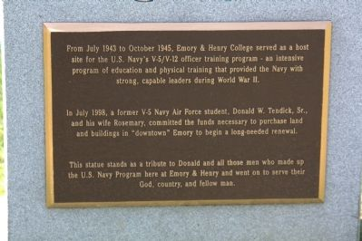 Donald W. Tendick, Sr., Memorial Marker image. Click for full size.
