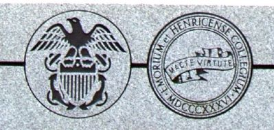 U.S. Navy and Emory & Henry College Seals image. Click for full size.