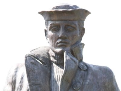 Donald W. Tendick, Sr., Memorial Statue Closeup Photo, Click for full size