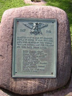 Hillside School War Memorial Marker image. Click for full size.