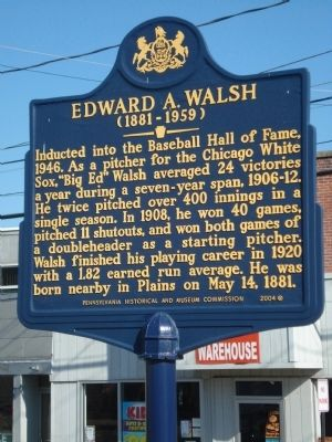 Edward A. Walsh Marker image. Click for full size.