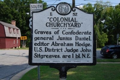 """Colonial Churchyard"" Marker image. Click for full size."